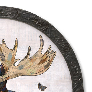 thumbnail for Circular Moose Original Paper Collage Art