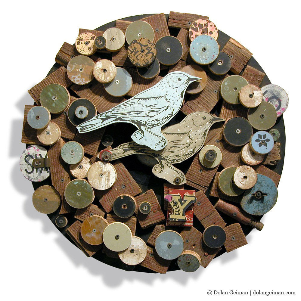 Songbird (Circular) Country Style Upcycled Wreath