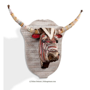 thumbnail for Great Plains Longhorn Faux Taxidermy Metal Sculpture
