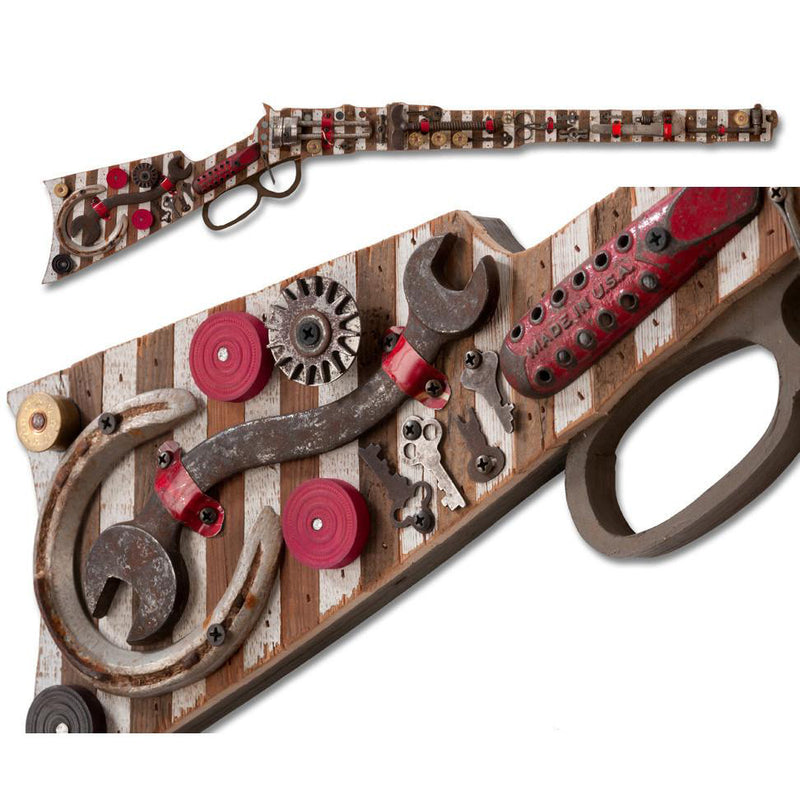 main image for Rifle Wall Sculpture with Lucky Horseshoe