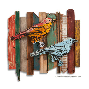 thumbnail for Songbird Fence Row Rescued Wood Construction