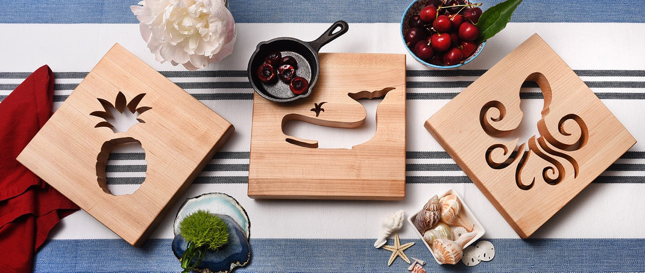 What is a trivet, pineapple, whale and octopus cut outs