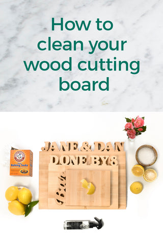 HOW TO CLEAN YOUR WOOD CUTTING BOARD #original-size
