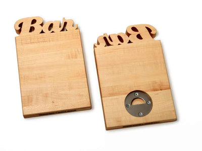 BAR CUTTING BOARD - WITH BOTTLE OPENER - 2