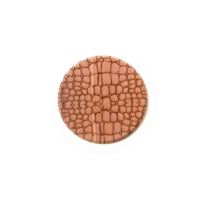 Cedar coaster with alligator animal print