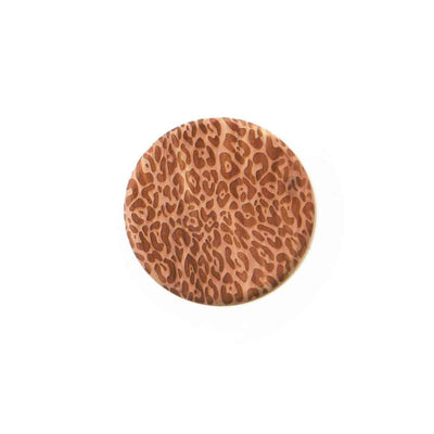 Cedar coaster with leopard print all over