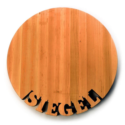 Round Personalized Board ~  Names on bottom