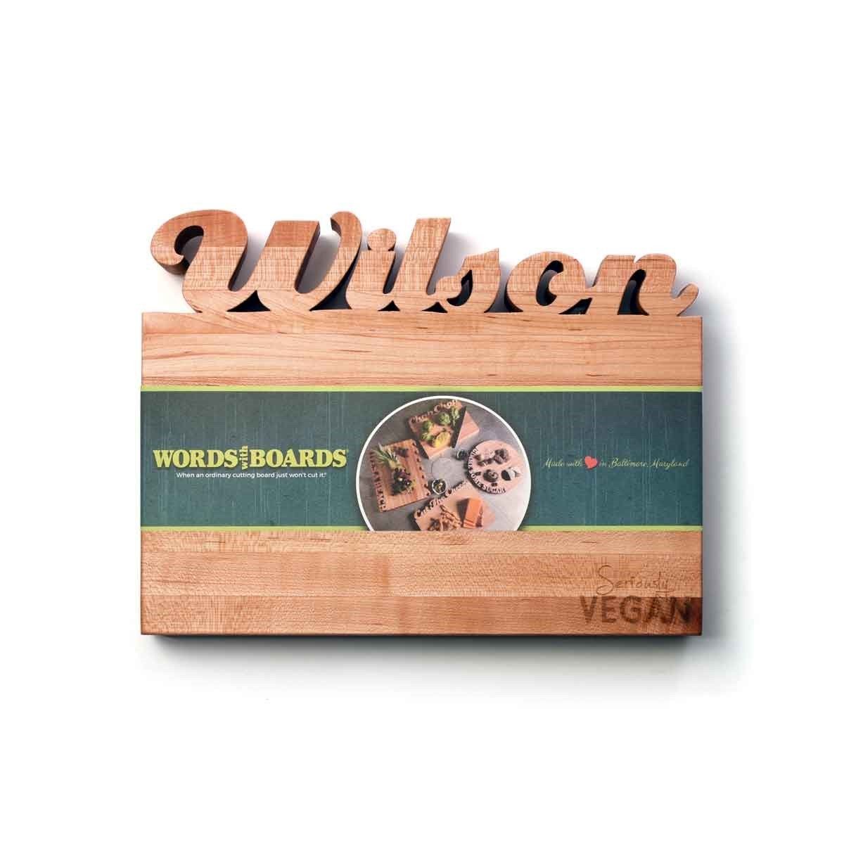 Vegan products - custom cutting board - words with boards1