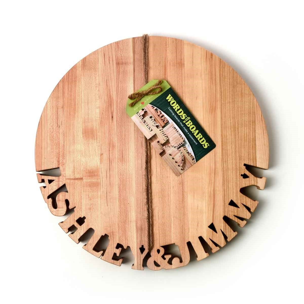 Round Cutting Board ~ Bottom Text - Words with Boards - 3