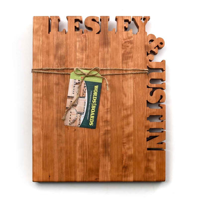 Personalized Cutting Board ~ Top & Side Text