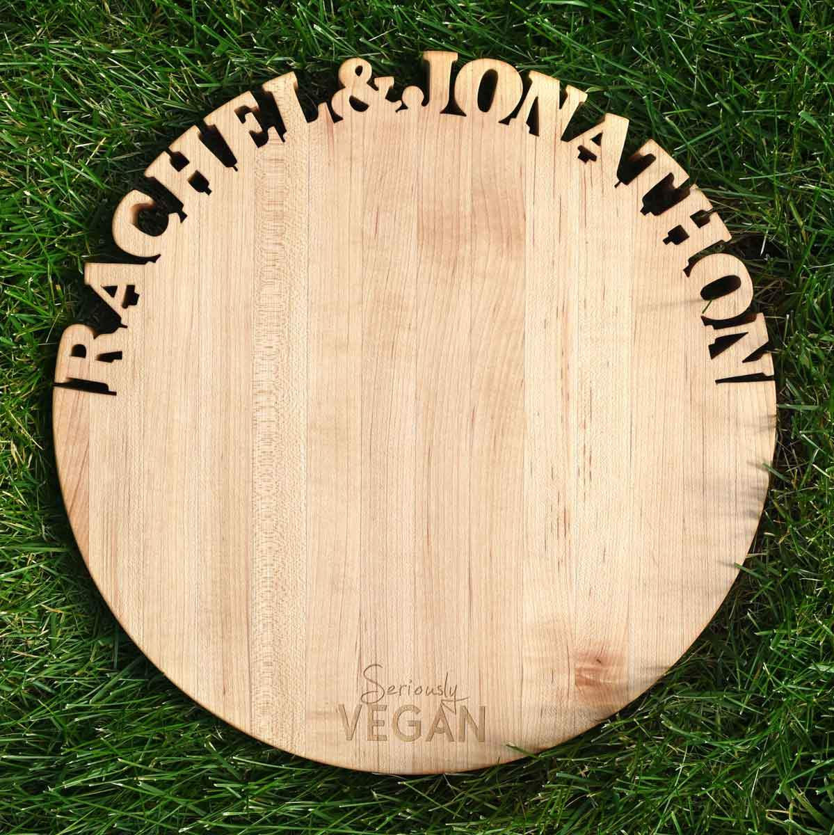 Create Your Own SERIOUSLY Vegan Cutting Board ~ Round Cutting Board