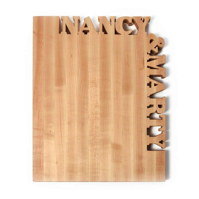 Personalized cutting board - top and side