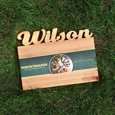 Vegan products - custom cutting board - words with boards2
