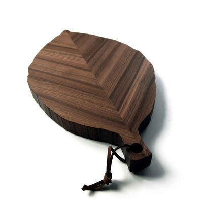serving board shaped like a walnut tree leaf - 1