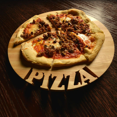 Pizza board - round pizza board - round cutting board - Words with Boards  - 3