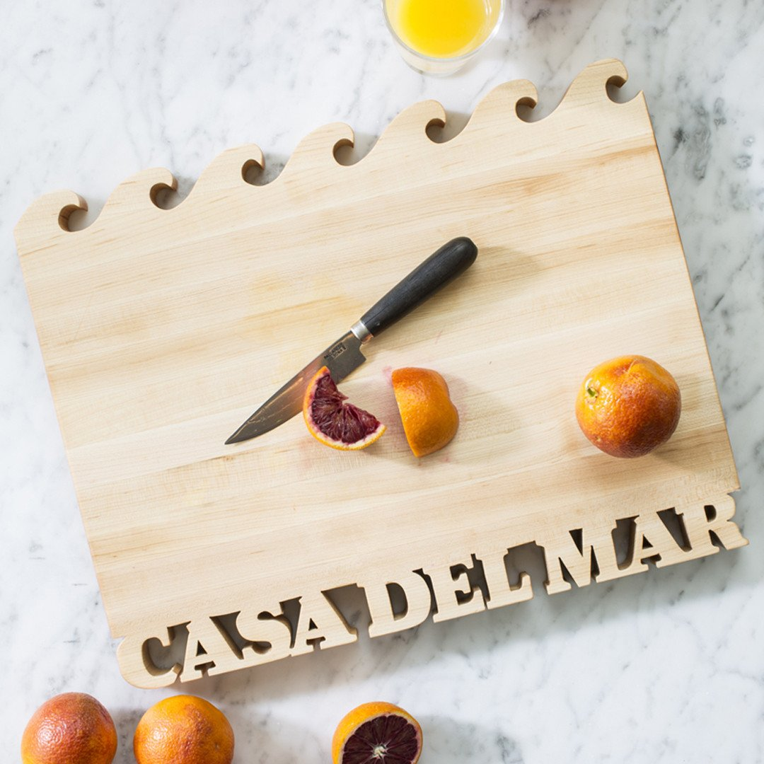 Wave Cutting Board ~ Text on Bottom - Words with Boards - 2