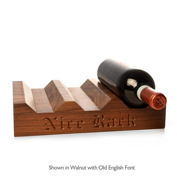 Wood Wine Rack ~ Personalized 6 bottle - Words with Boards  - 1