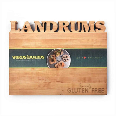 gluten free products - custom cutting boards
