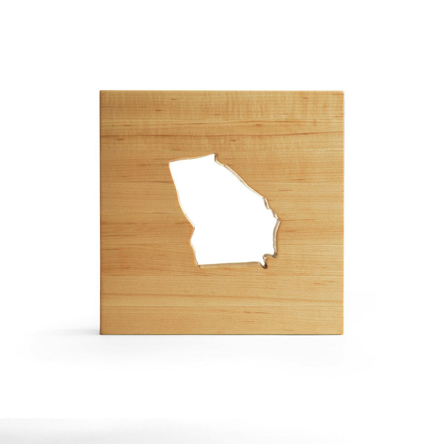 Georgia state cutting board trivet - Georgia shaped cutting board