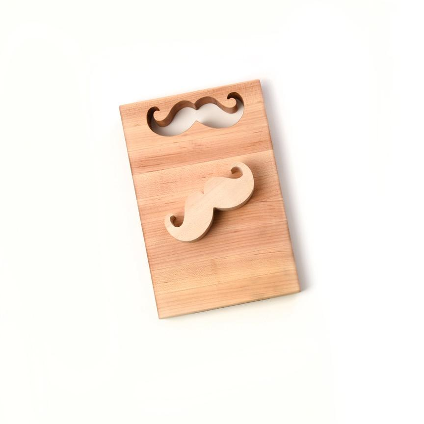 MUSTACHE PRODUCTS- CUTTING BOARD WITH MUSTACHE