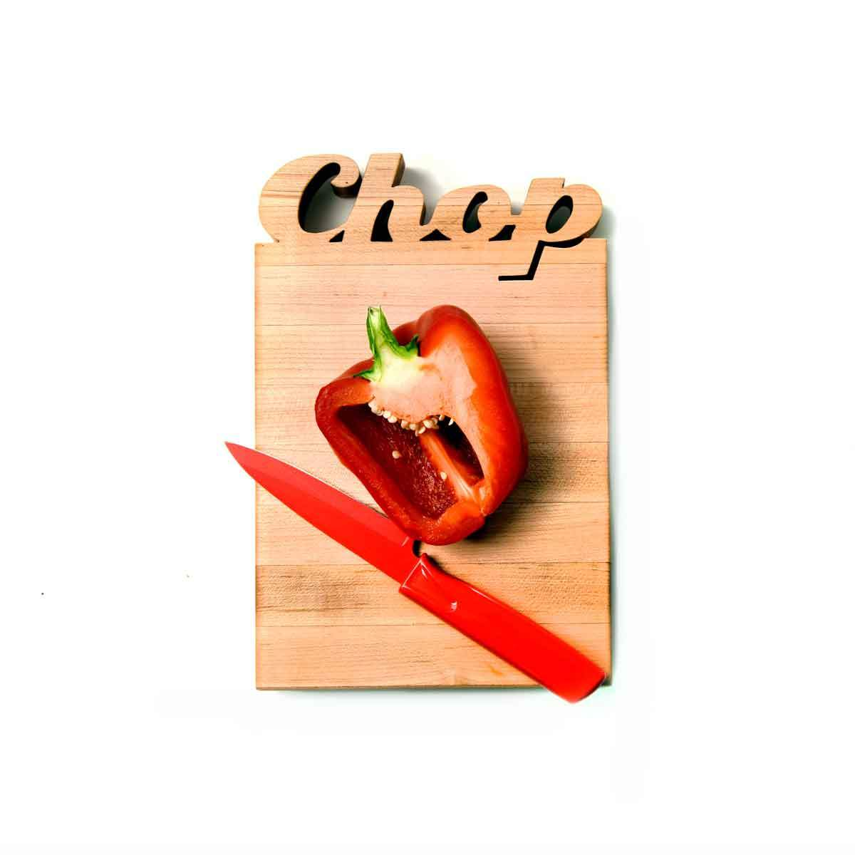mini cutting boards - Chop cut out of wood - with bottle opener option