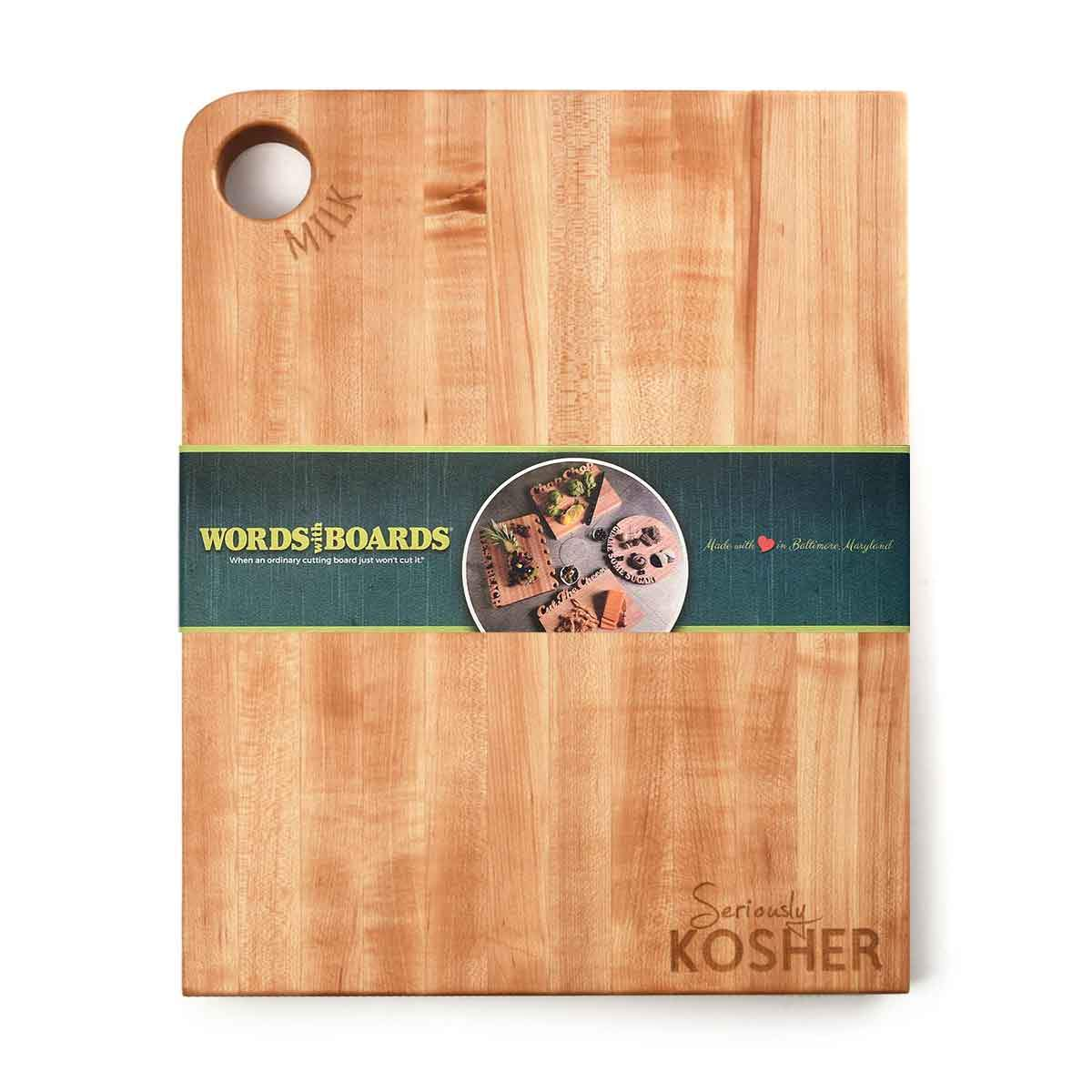 Seriously Kosher ~ Large Cutting Board ~ Milk