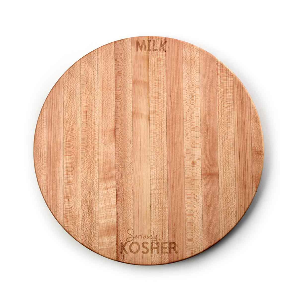 Seriously Kosher ~ Round Cutting Board ~ Milk