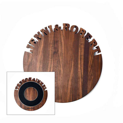 Lazy Susan ~ Walnut ~ FREE SHIPPING - Words with Boards - 3