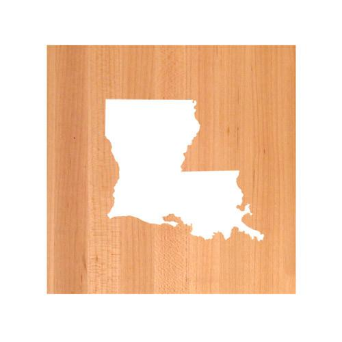 Louisiana State Cutting Board TRIVET - Louisiana shaped cutting board
