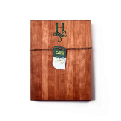 CHERRY CUTTING BOARD - MALACHITE STONE INLAY