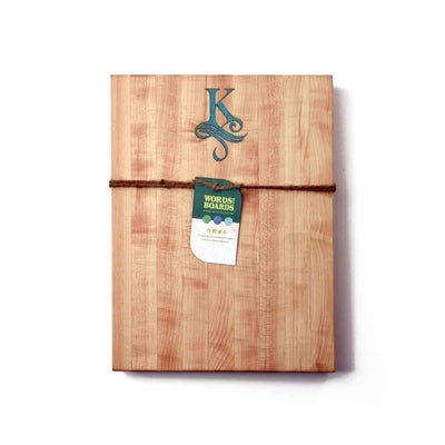 MAPLE CUTTING BOARD - TURQUOISE STONE INLAY