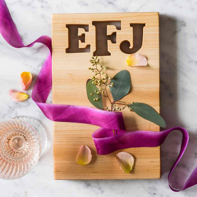 MONOGRAM CUTTING BOARD - WITH BOTTLE OPENER