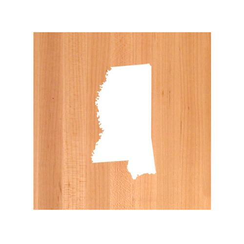Mississippi State Cutting Board TRIVET - Mississippi shaped cutting board