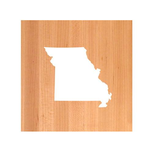 Missouri State Cutting Board TRIVET - Missouri shaped cutting board