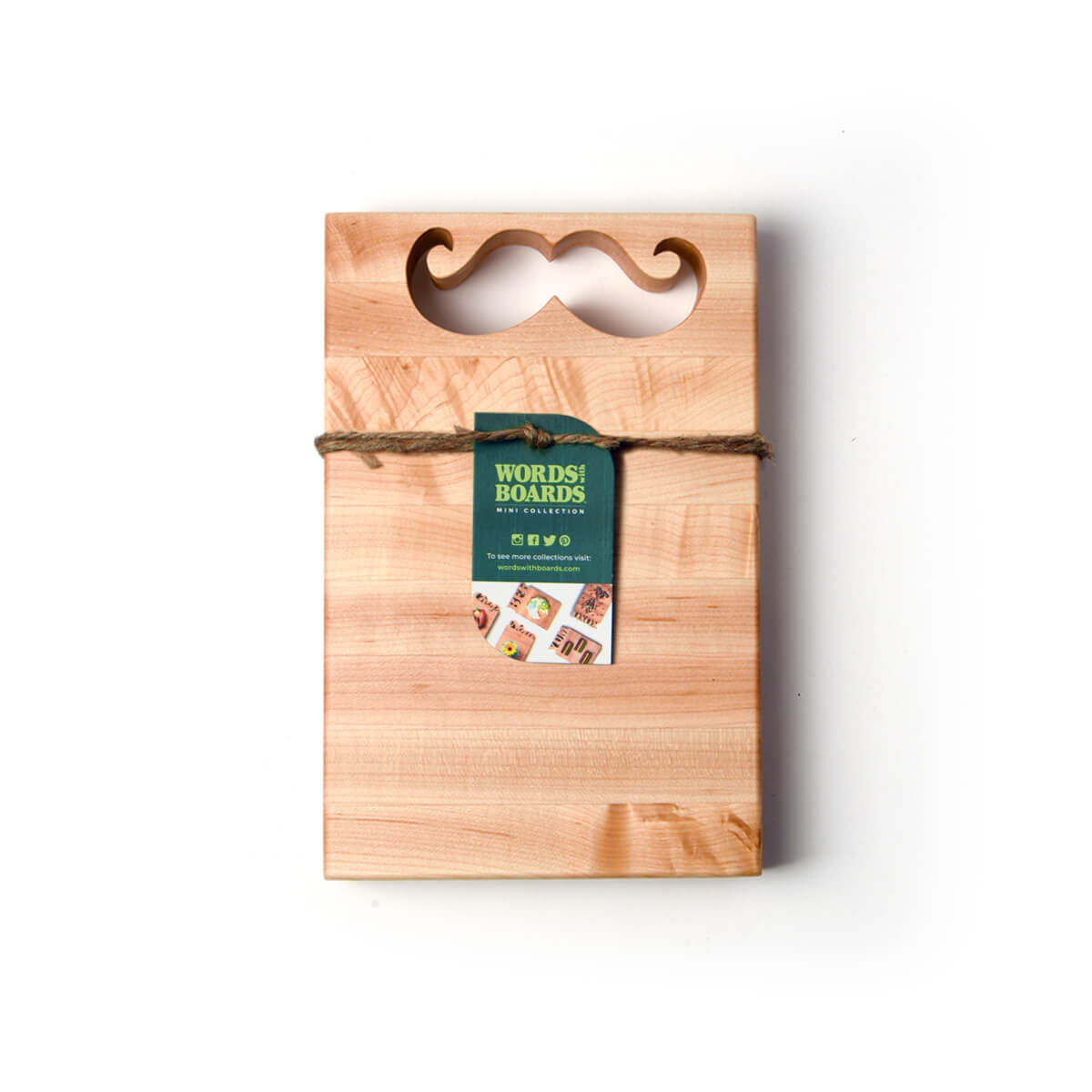 Mustache gift - wood cutting board with mustache shape cut out.jpg