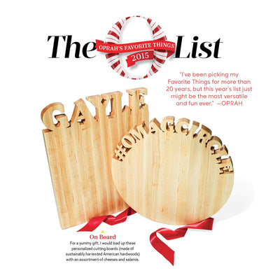 Personalized Cutting Board ~ Round Top Text - Words with Boards - 5