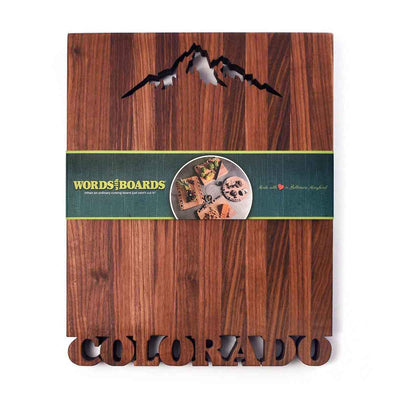 Large Personalized Cutting Board - Mountains - Words with Boards - 1