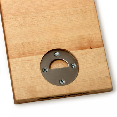 SMALL WOOD CUTTING BOARD - CUTTING BOARD WITH BOTTLE OPENER- UNDER $50-2