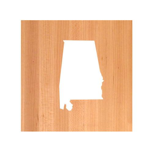 Alabama State Cutting Board TRIVET - Alabama shaped cutting board