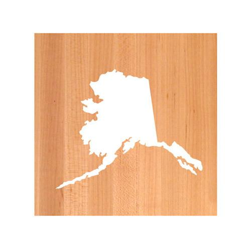 Alaska State Cutting Board TRIVET - Alaska shaped cutting board