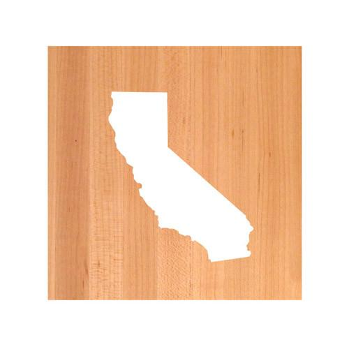 California State Cutting Board TRIVET - California shaped cutting board
