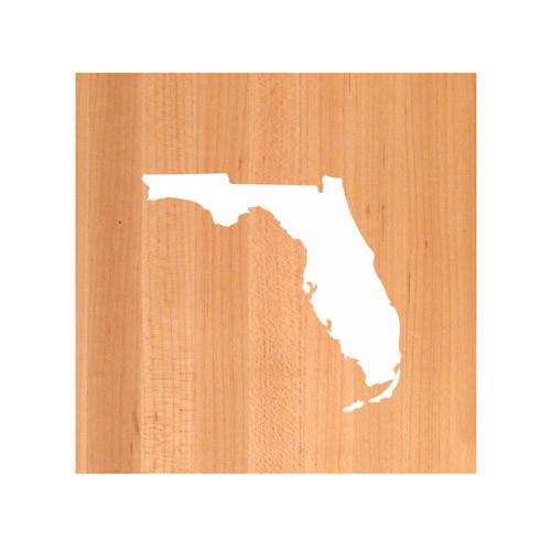 Florida State Cutting Board TRIVET - Florida shaped cutting board