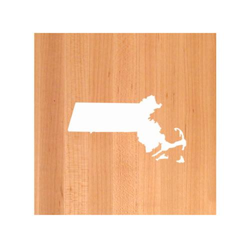 Massachusetts State Cutting Board TRIVET - Massachusetts shaped cutting board