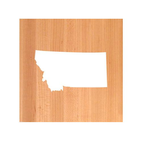 Montana State Cutting Board TRIVET - Montana shaped cutting board
