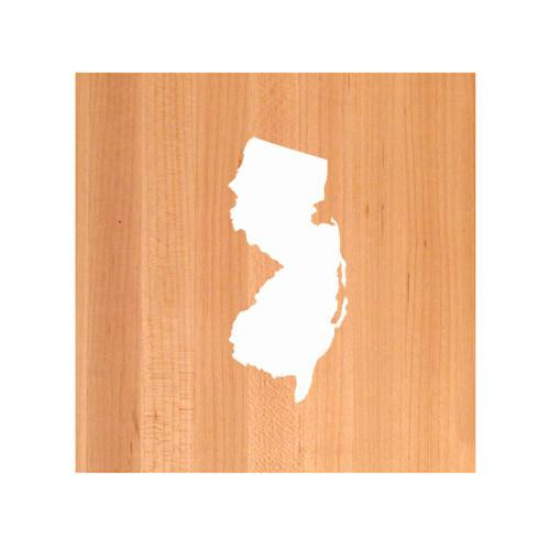 New Jersey State Cutting Board TRIVET - New Jersey shaped cutting board