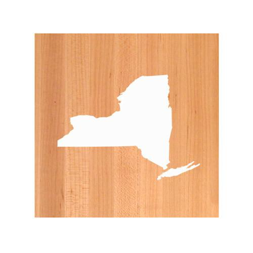 New York State Cutting Board TRIVET - New York shaped cutting board