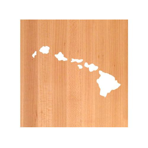 Hawaii State Cutting Board TRIVET - Hawaii shaped cutting board