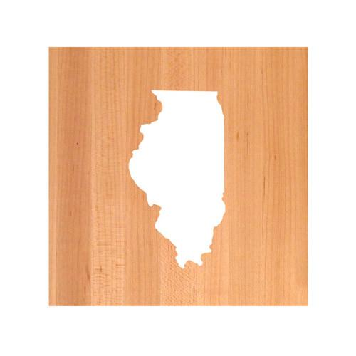Illinois State Cutting Board TRIVET - Illinois shaped cutting board
