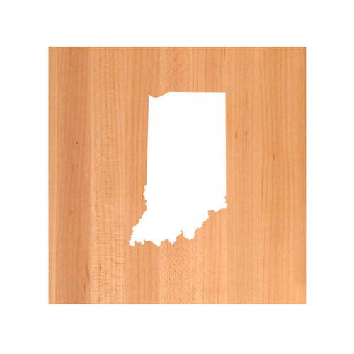Indiana State Cutting Board TRIVET Indiana shaped cutting board