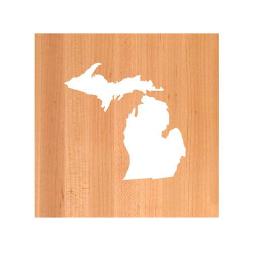 Michigan State Cutting Board TRIVET - Michigan shaped cutting board